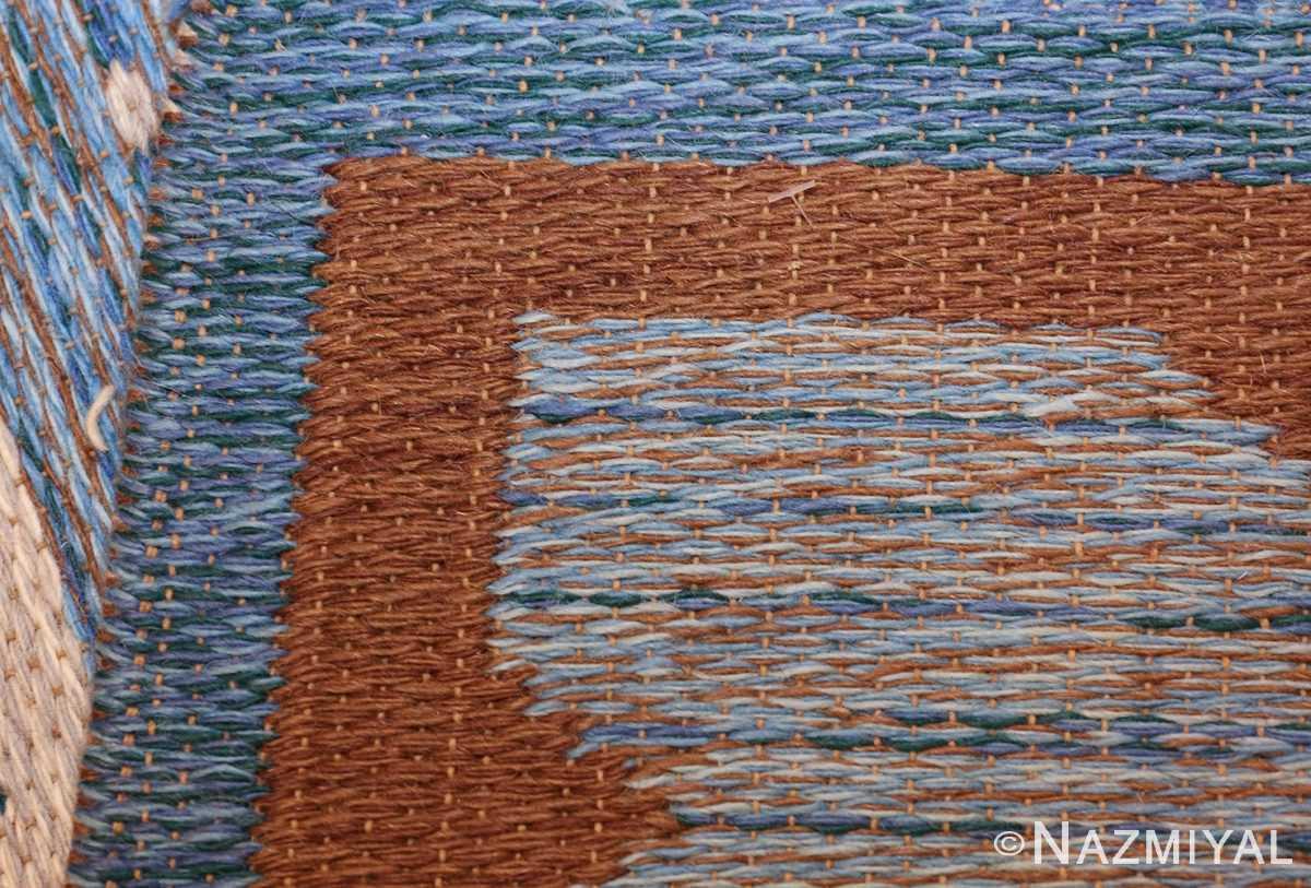 vintage swedish double sided rug 48008 weave Nazmiyal