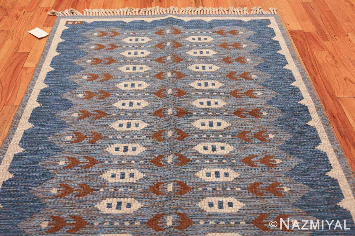 vintage swedish double sided rug 48008 whole Nazmiyal