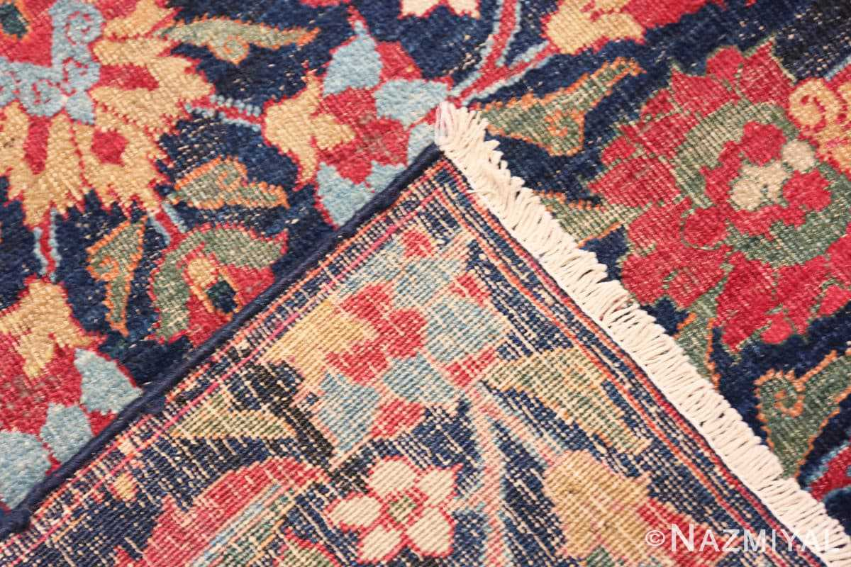 Weave Small Square scatter size Antique Persian Kerman rug 47984 by Nazmiyal