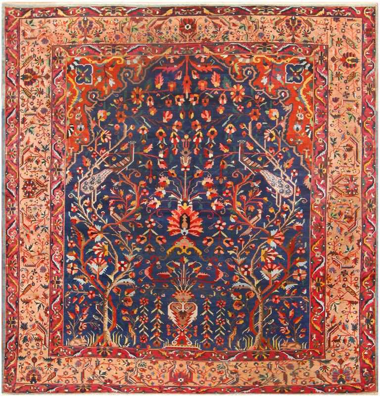 Antique Persian Bakhtiari Rug 48004 Nazmiyal