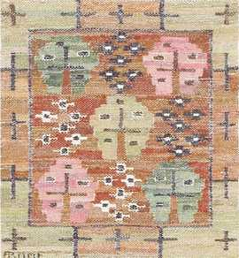 Vintage Swedish Kilim by Marta Maas 47584 Nazmiyal