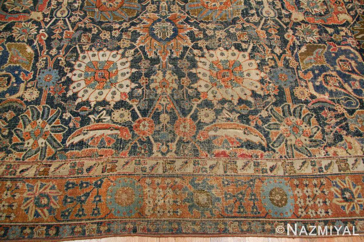 antique 17th century persian vase kerman carpet 45770 border Nazmiyal