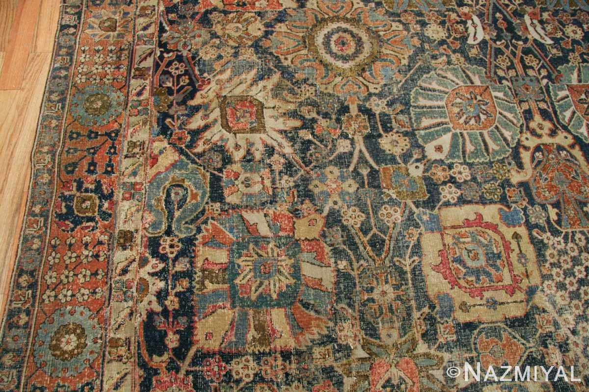 antique 17th century persian vase kerman carpet 45770 colorful Nazmiyal