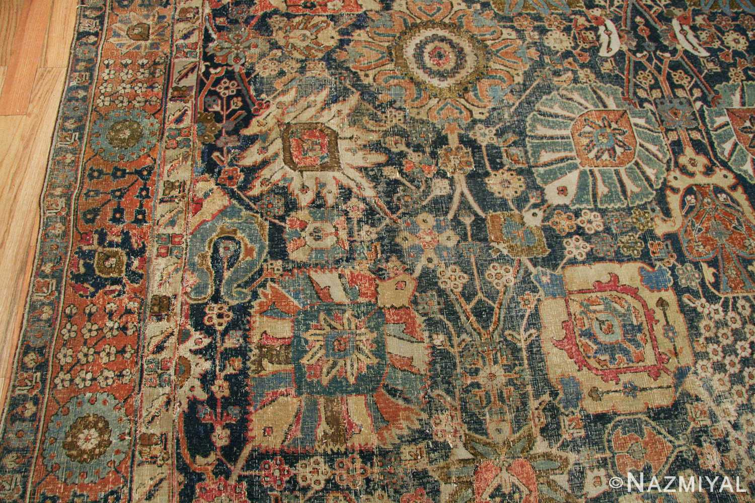 antique 17th century persian vase kerman carpet 45770 colorful Nazmiyal