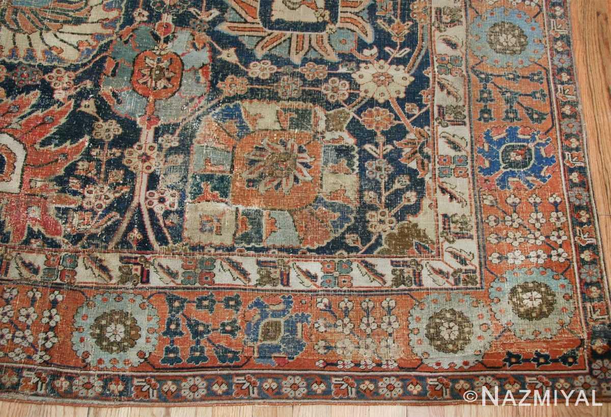 antique 17th century persian vase kerman carpet 45770 corner Nazmiyal