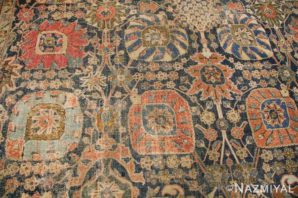 antique 17th century persian vase kerman carpet 45770 green Nazmiyal