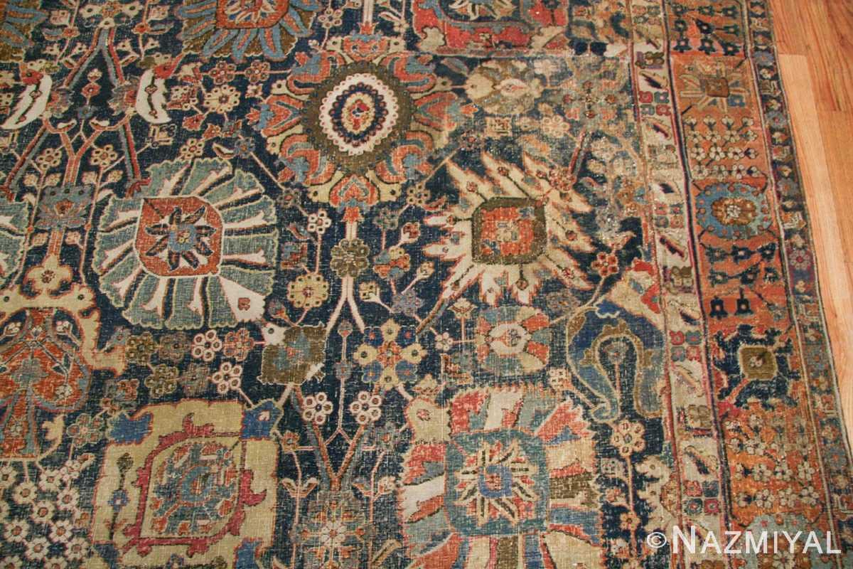 antique 17th century persian vase kerman carpet 45770 leaves Nazmiyal