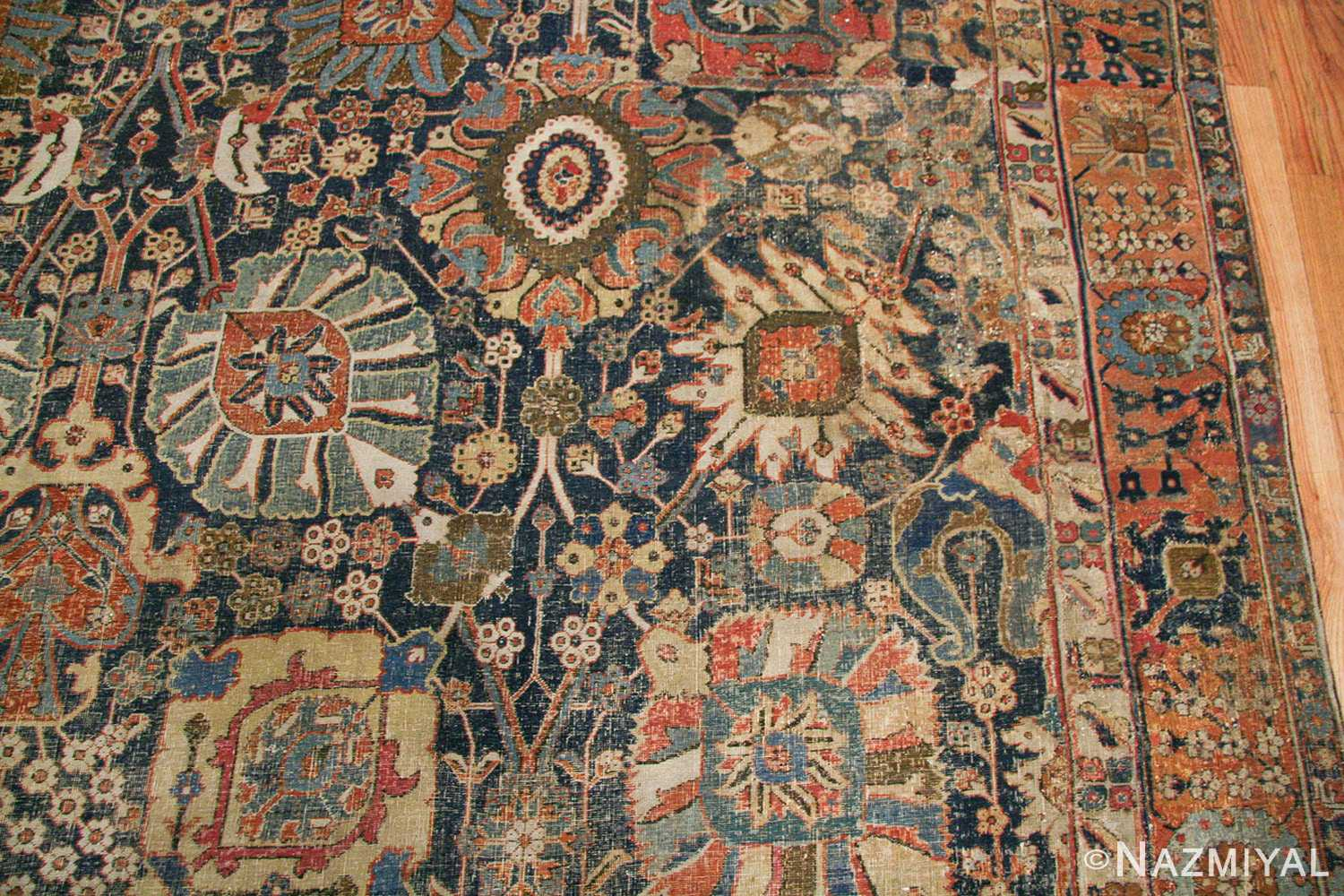 antique 17th century persian vase kerman carpet 45770 leaves Nazmiyal
