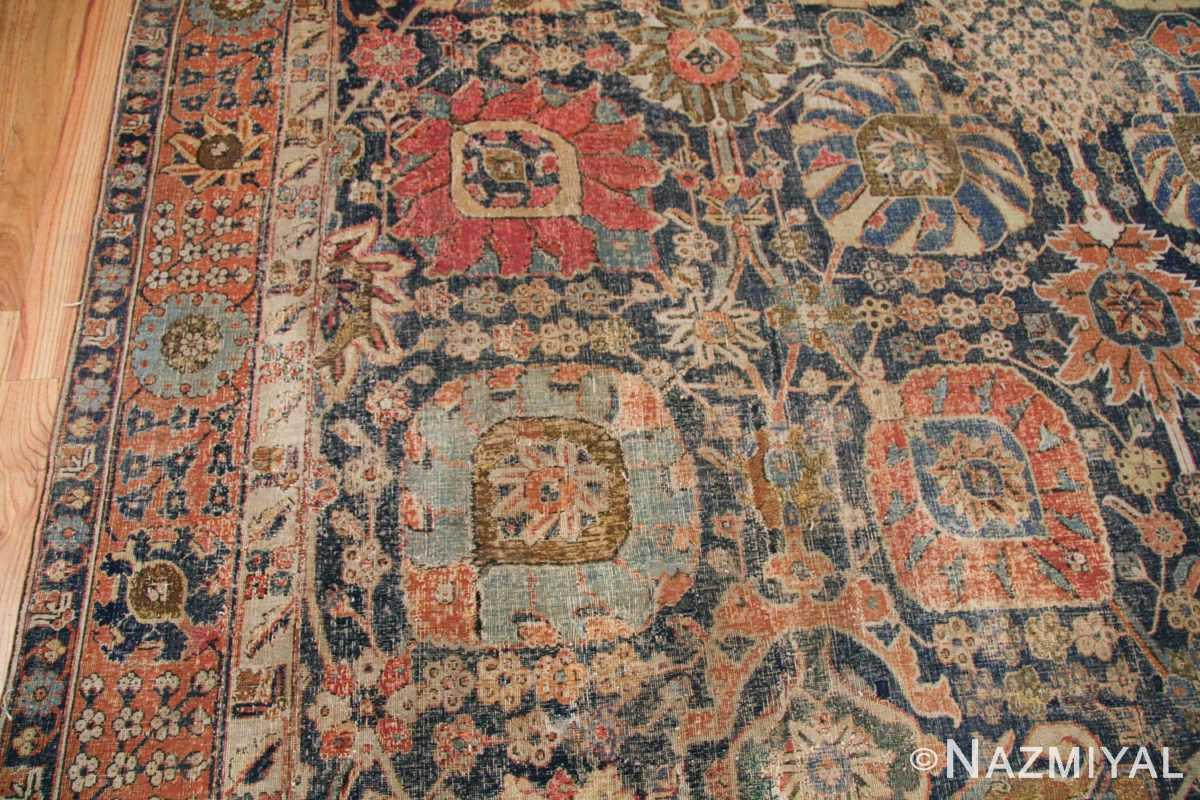 antique 17th century persian vase kerman carpet 45770 red Nazmiyal