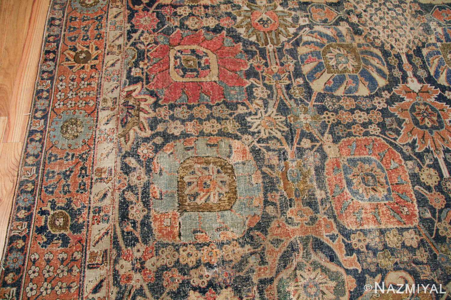 antique 17th century persian vase kerman carpet 45770 red Nazmiyal