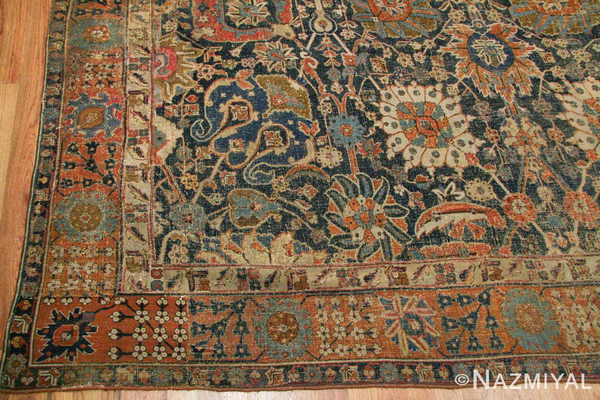 antique 17th century persian vase kerman carpet 45770 repair Nazmiyal