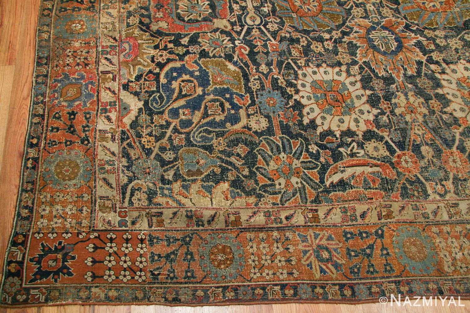 antique 17th century persian vase kerman carpet 45770 repair Nazmiyal