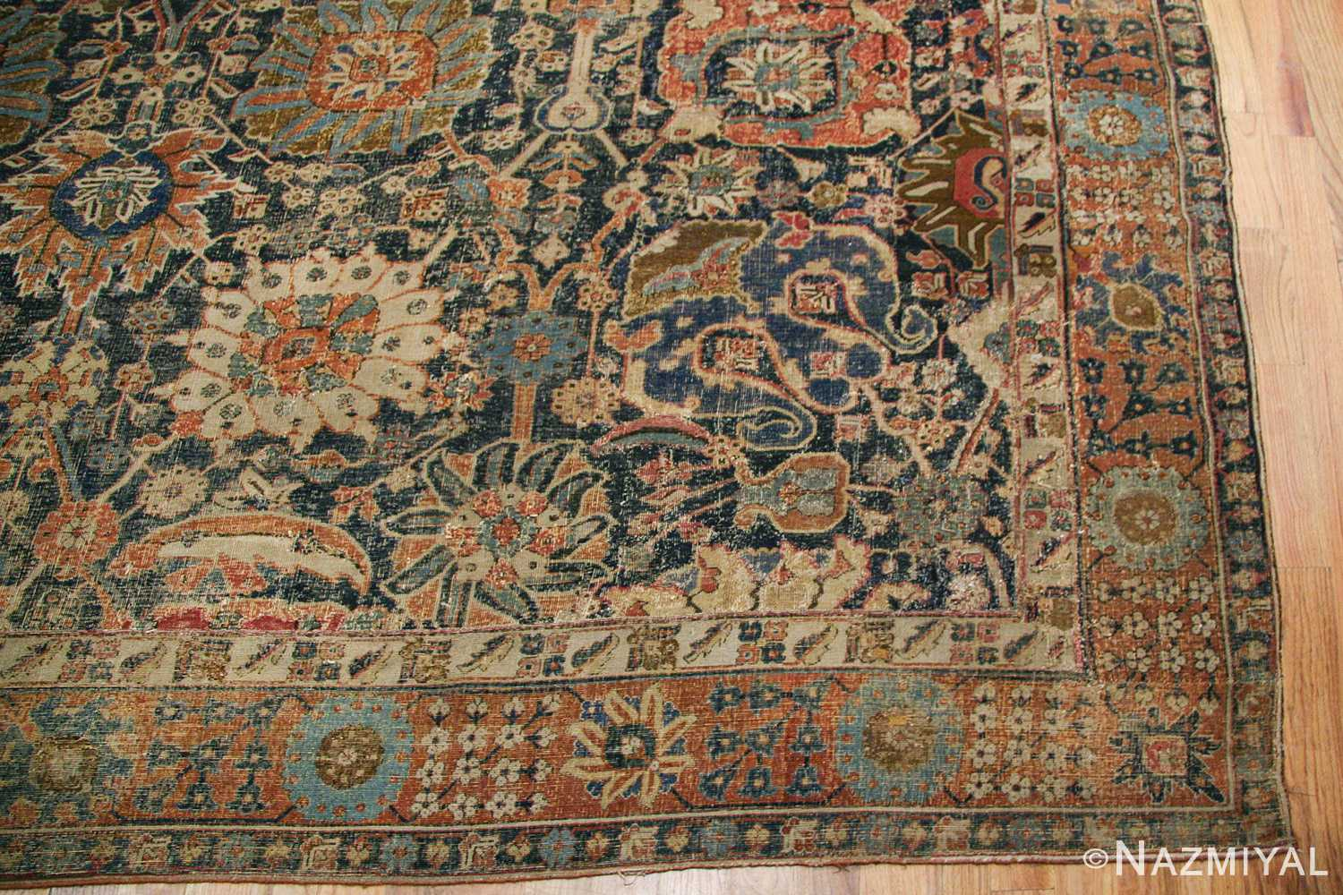 antique 17th century persian vase kerman carpet 45770 right side Nazmiyal
