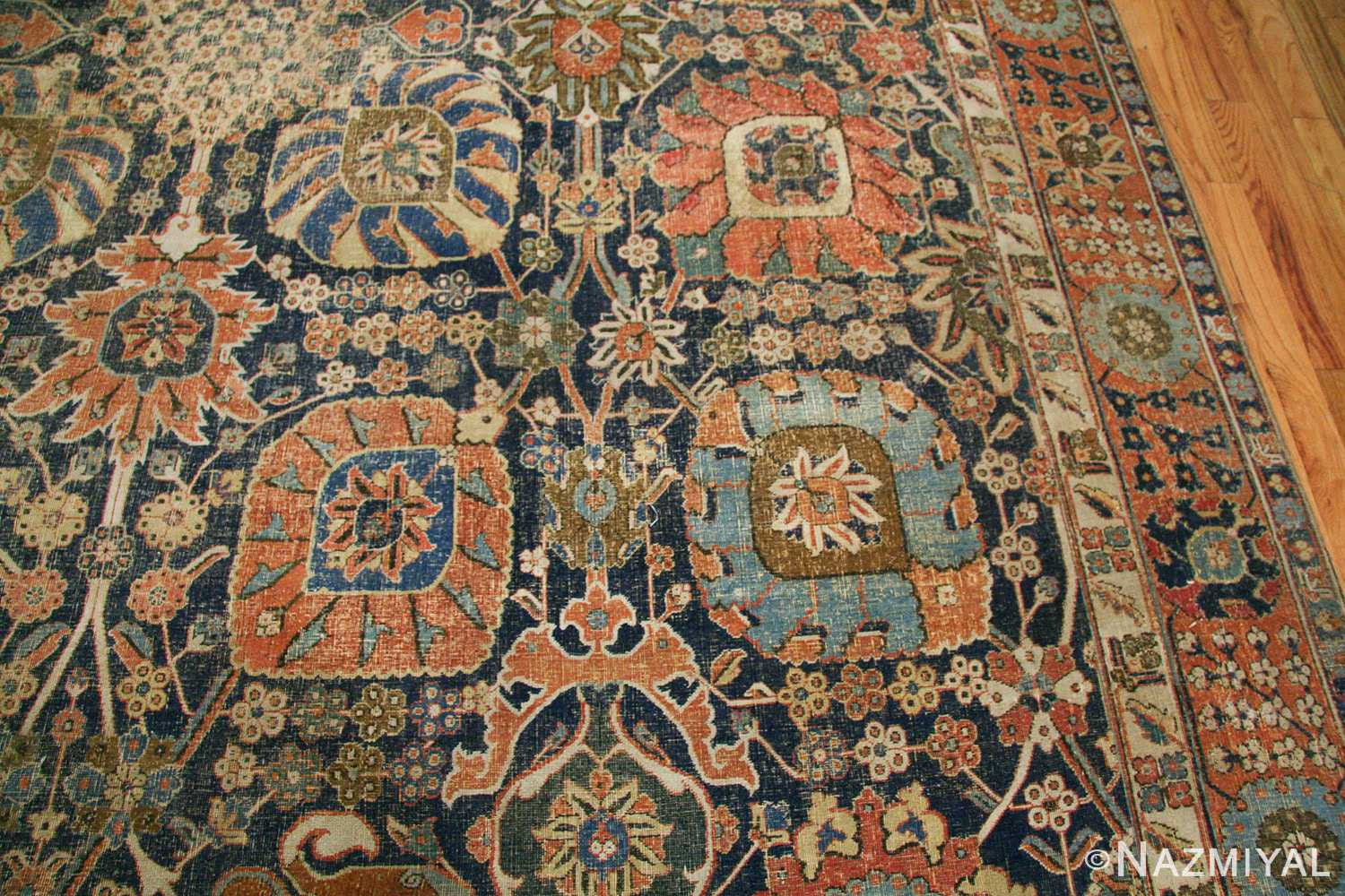 antique 17th century persian vase kerman carpet 45770 trio Nazmiyal
