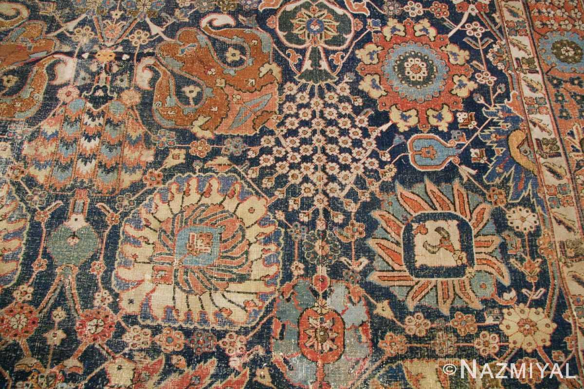 antique 17th century persian vase kerman carpet 45770 white Nazmiyal