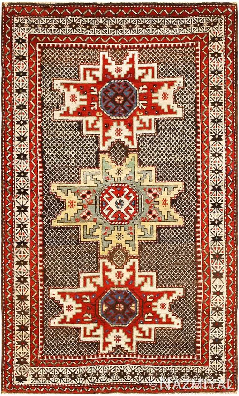 Antique Caucasian Kuba Rug 48029 Detail/Large View