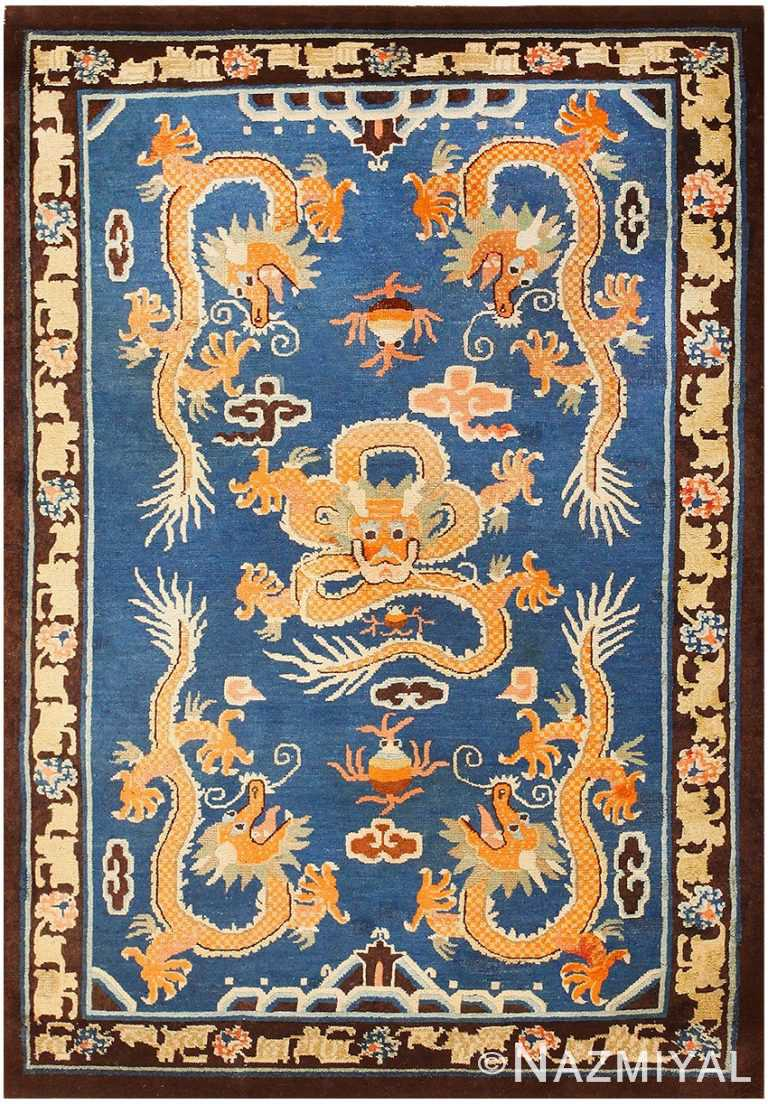 Antique Chinese Dragon Rug 48069 Detail/Large View