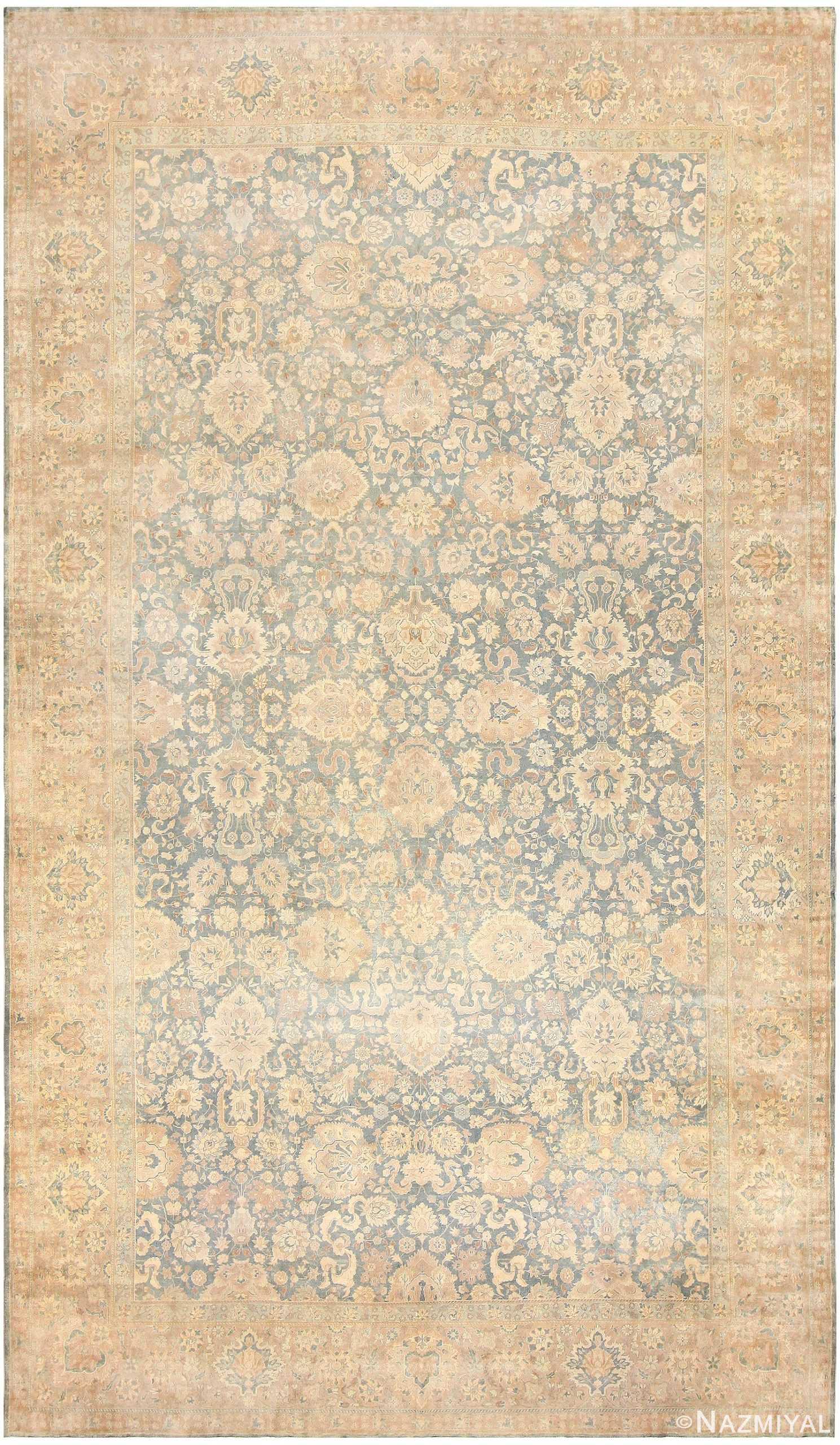 Antique Floral Indian Rug 47602 Detail/Large View