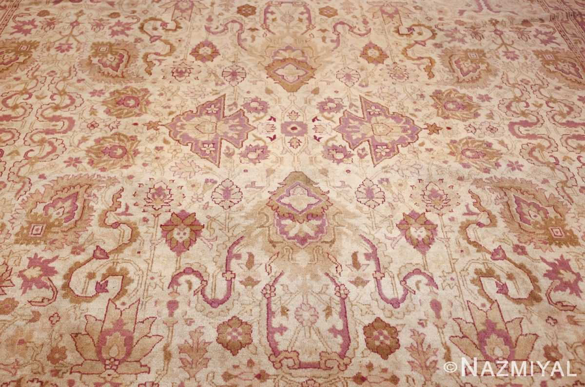 antique indian amritsar carpet 48002 center Nazmiyal