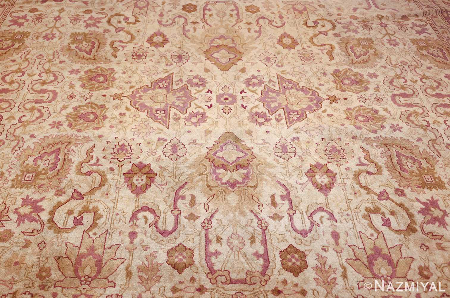 antique indian amritsar carpet 48002 center Nazmiyal