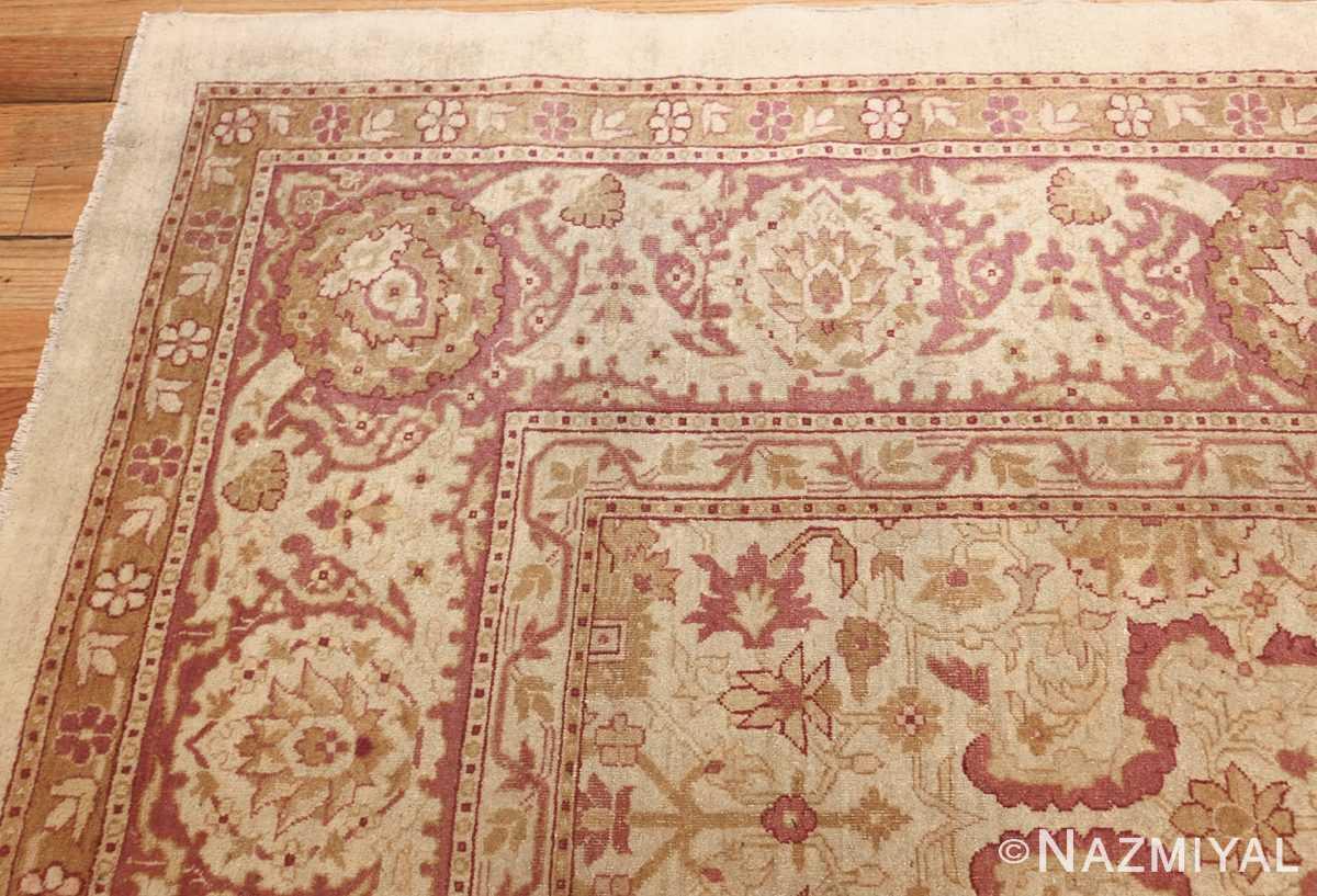 antique indian amritsar carpet 48002 corner Nazmiyal