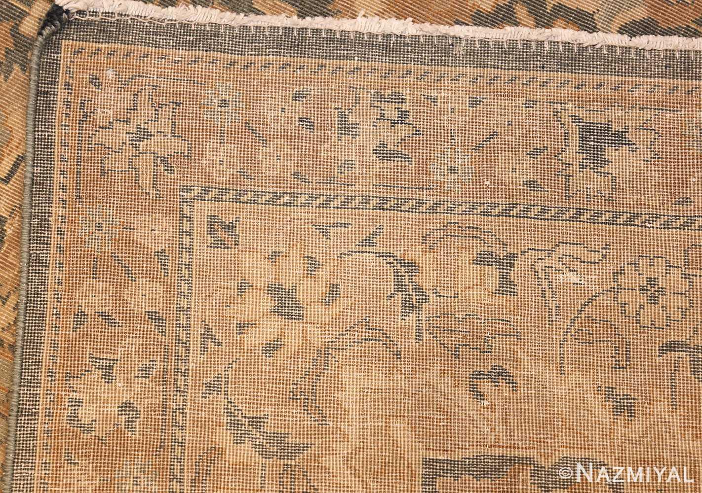 antique light blue indian rug 47602 weave Nazmiyal