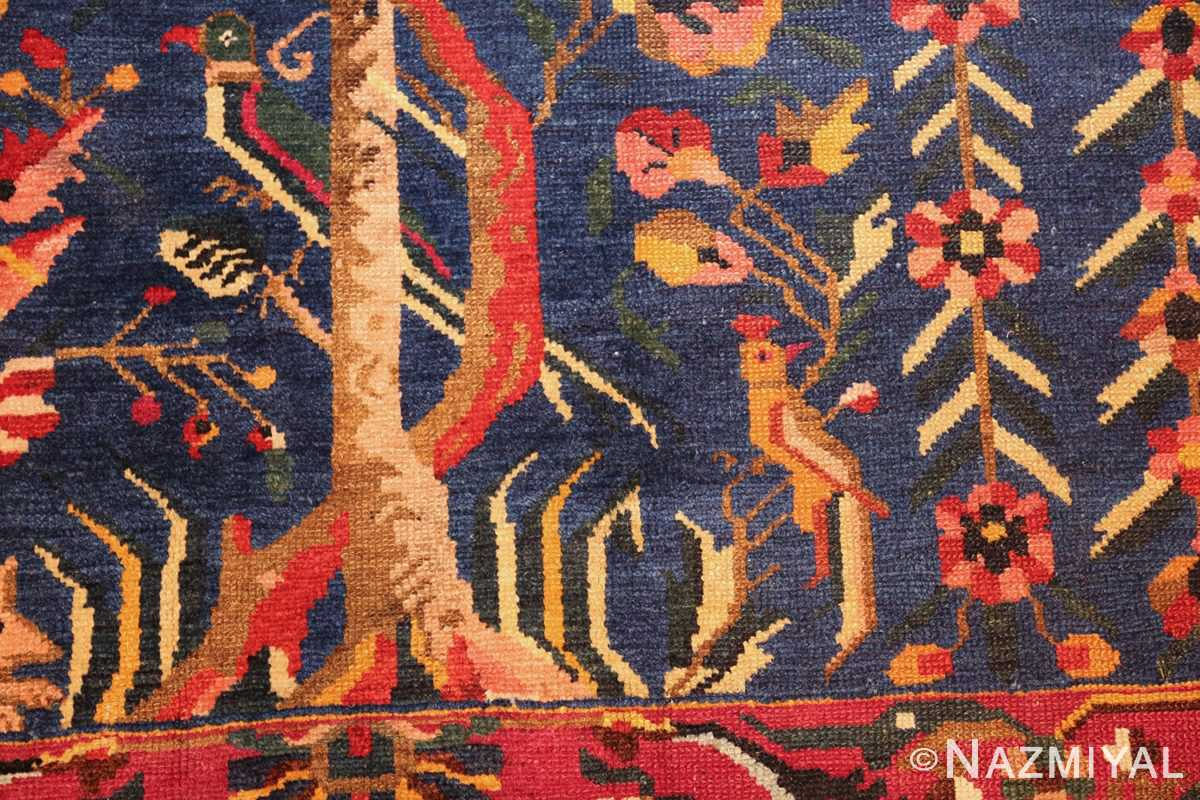 antique persian bakhtiari tree of life rug 48004 closeup Nazmiyal