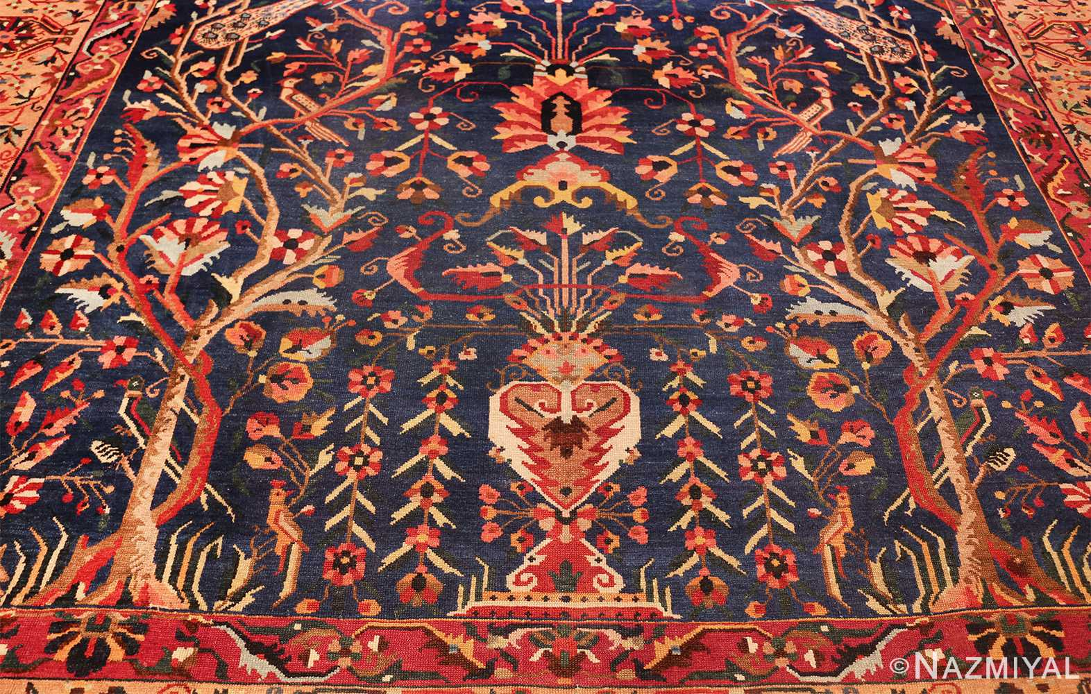 antique persian bakhtiari tree of life rug 48004 field Nazmiyal