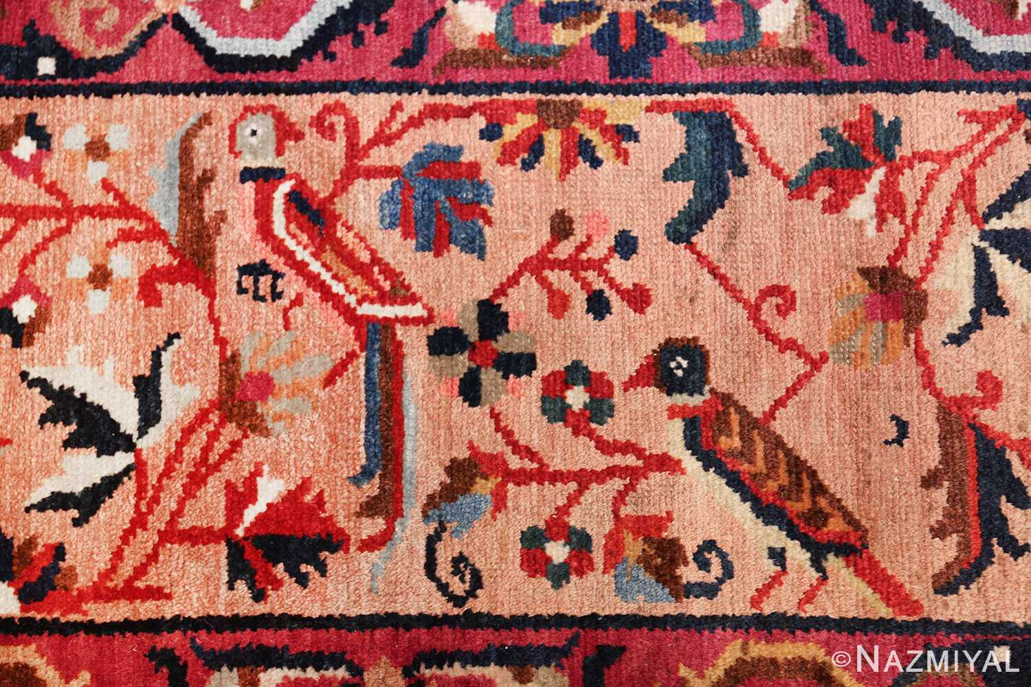 antique persian bakhtiari tree of life rug 48004 parrots Nazmiyal