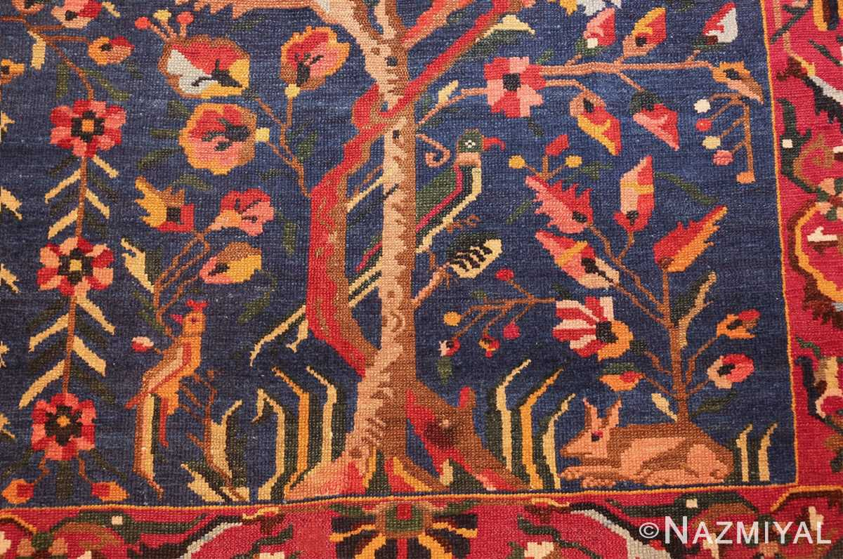 antique persian bakhtiari tree of life rug 48004 rabbits Nazmiyal