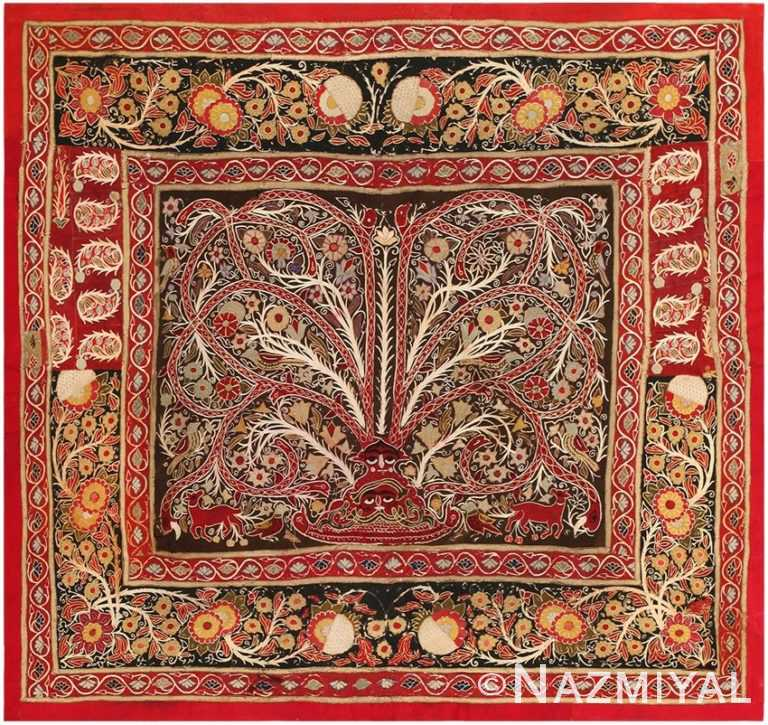 Antique Persian Embroidery Textile 45527 by nazmiyal