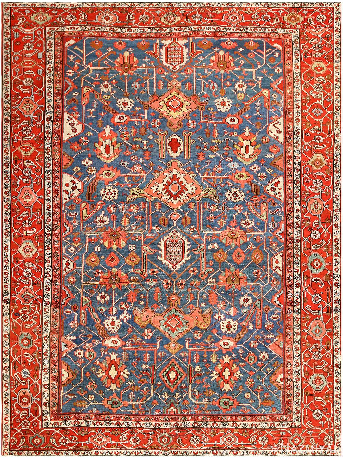 Antique Persian Heriz Serapi Rug 48006 – Nazmiyal Collection