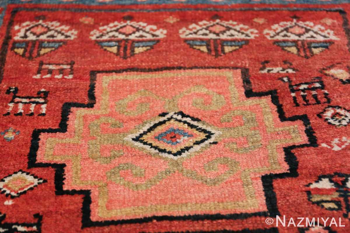 Antique Persian Northwest Rug 48027 Pink Medallion Nazmiyal