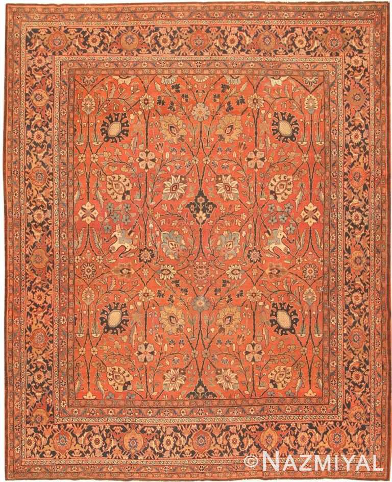 Antique Tabriz Persian Rug 42458 Detail/Large View