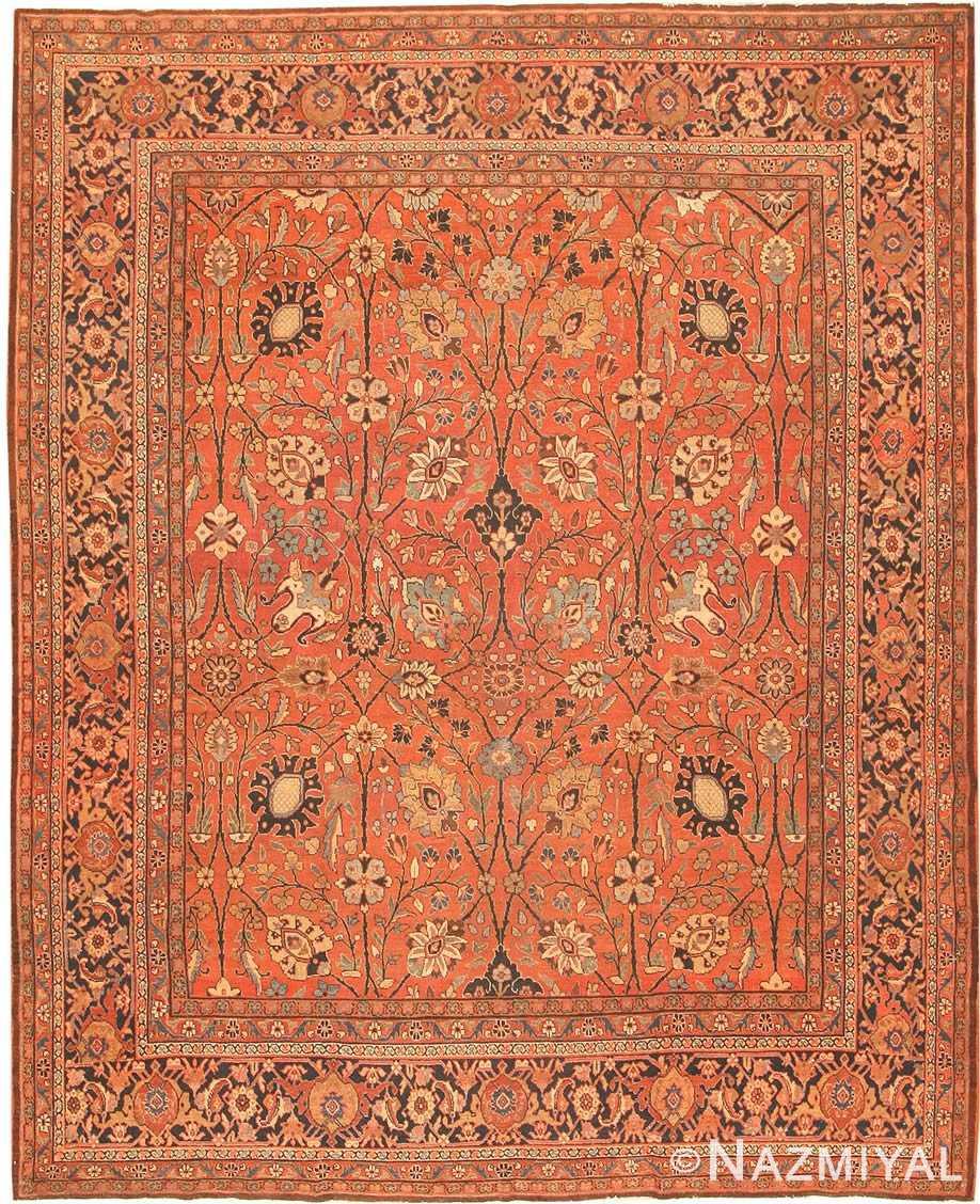 Antique Tabriz Persian Rug 42458 Detail/Large View