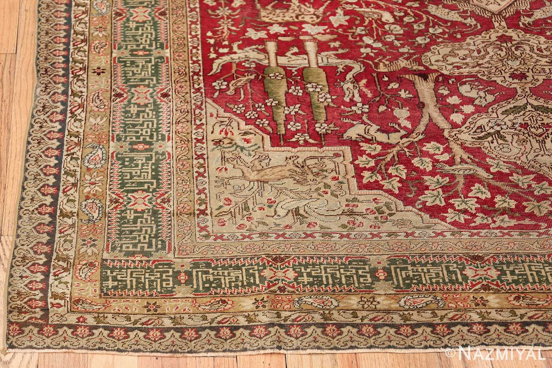 Antique Turkish Keysari Rug 47704 Corner Design Nazmiyal