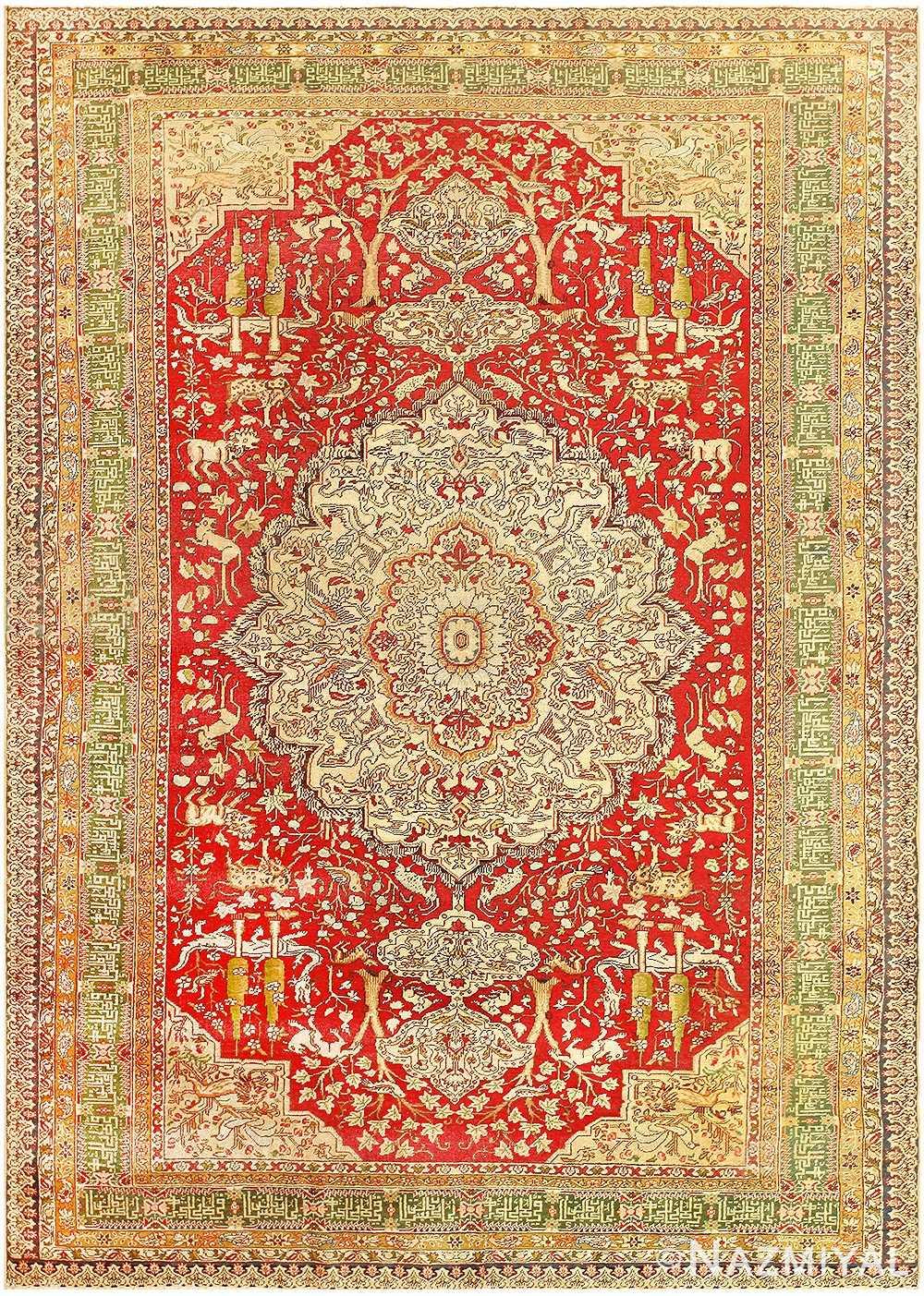 Antique Turkish Keysari Rug 47704 Detail/Large View