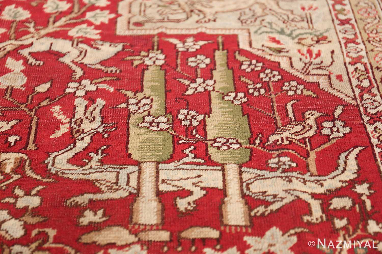 Antique Turkish Keysari Rug 47704 Dragon by Tree Nazmiyal