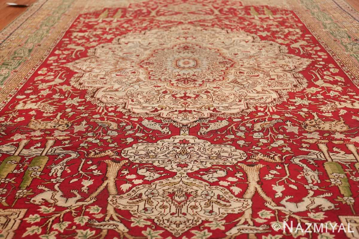 Antique Turkish Keysari Rug 47704 Geometric Field Nazmiyal