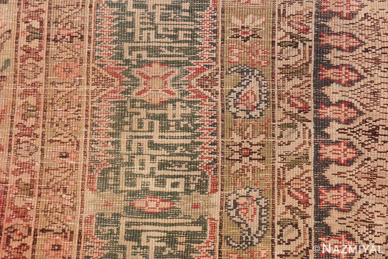 Antique Turkish Keysari Rug 47704 Knots Back Nazmiyal