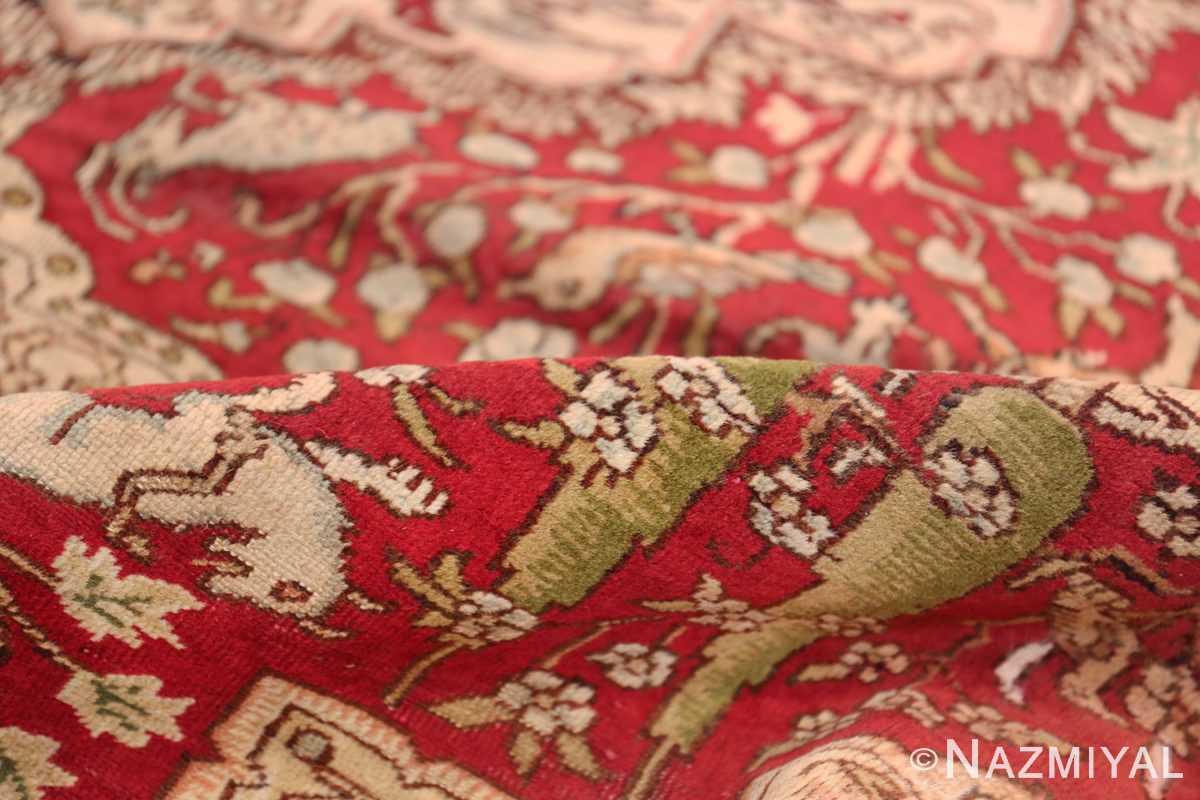 Antique Turkish Keysari Rug 47704 Red Pile Nazmiyal