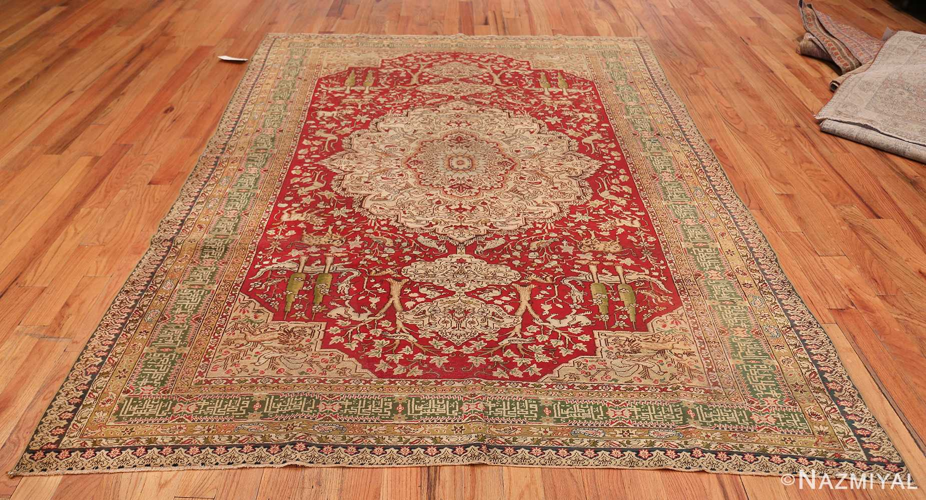 Antique Turkish Keysari Rug 47704 Whole Design Nazmiyal
