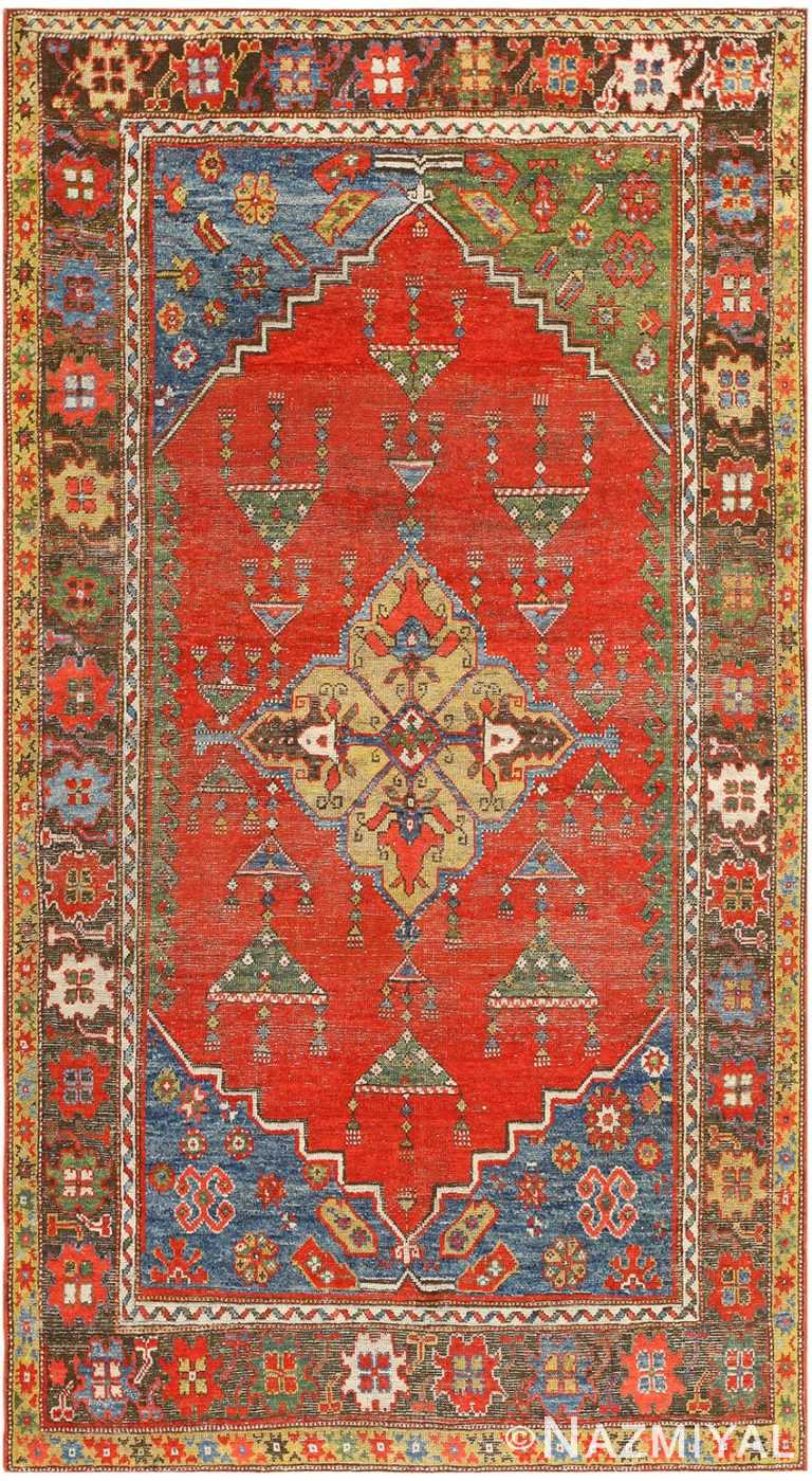 Antique Turkish Konia Rug 47394 Detail/Large View