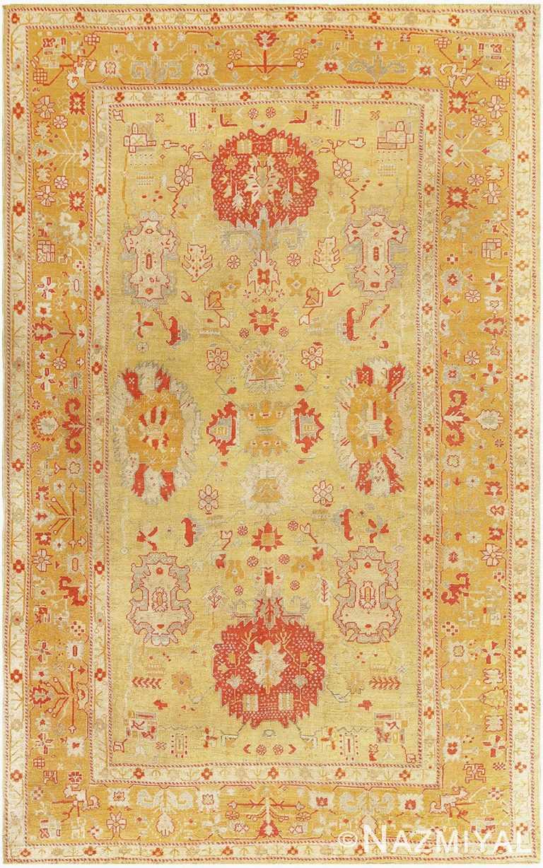Antique Turkish Oushak Rug 47260 Detail/Large View