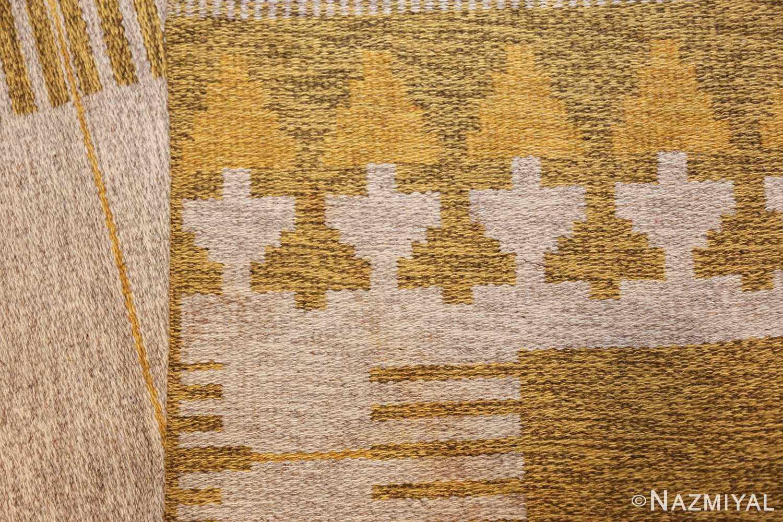 vintage double sided swedish kilim rug 48053 back Nazmiyal