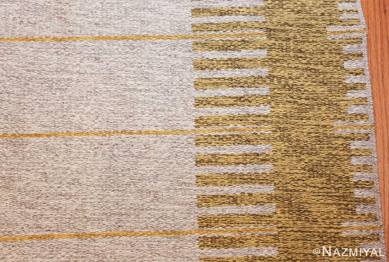 vintage double sided swedish kilim rug 48053 closeup Nazmiyal