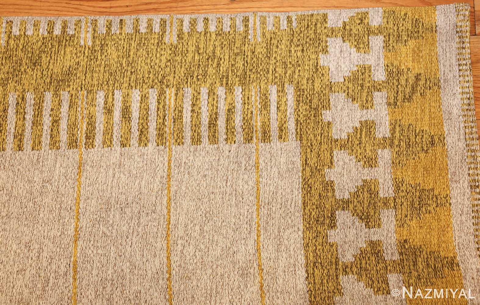 vintage double sided swedish kilim rug 48053 corner Nazmiyal