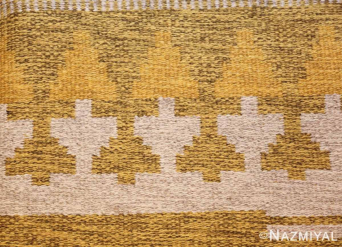 vintage double sided swedish kilim rug 48053 design Nazmiyal