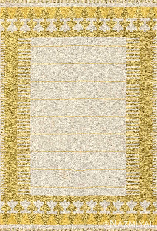 vintage double sided swedish kilim rug 48053 Nazmiyal