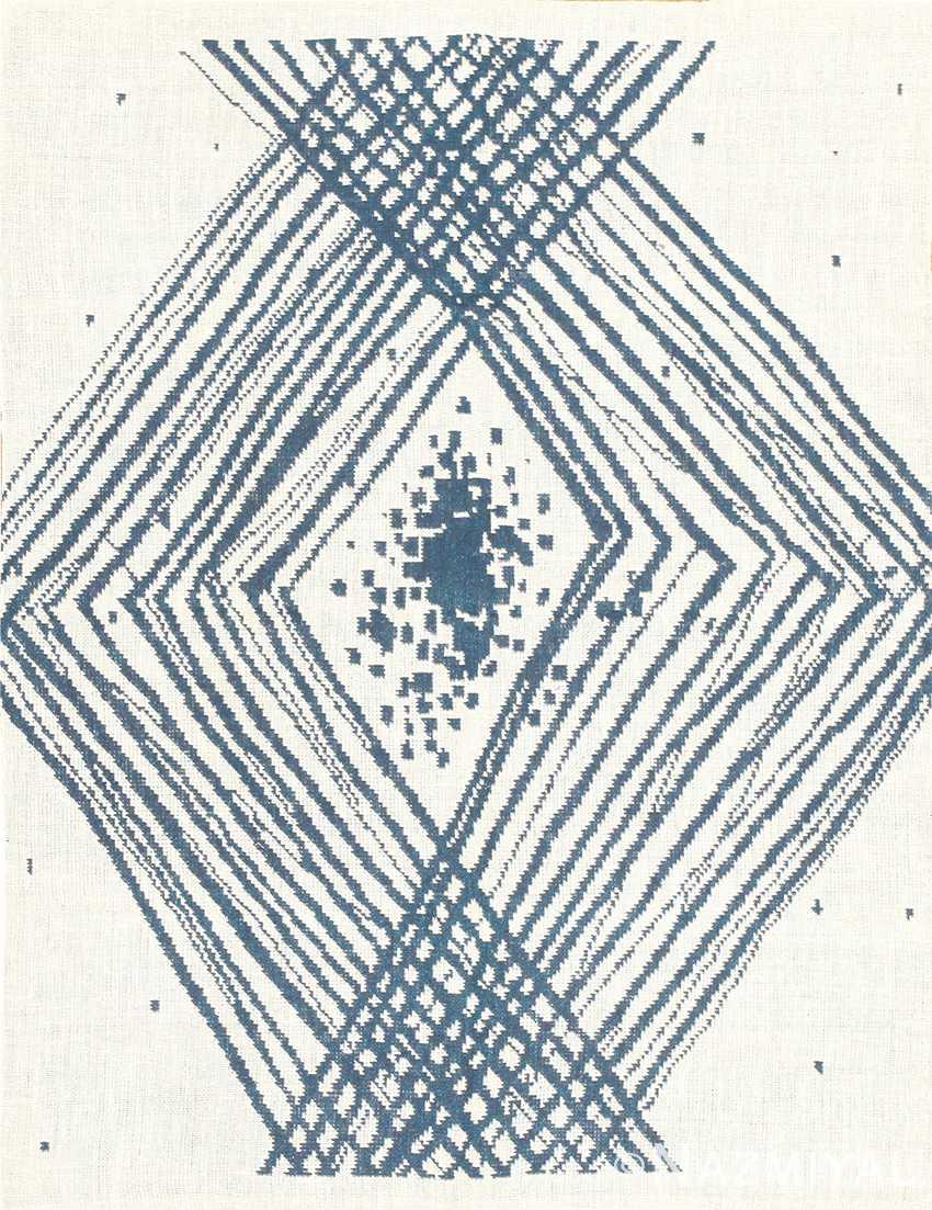 vintage scandinavian double sided swedish tapestry rug 48050 Nazmiyal